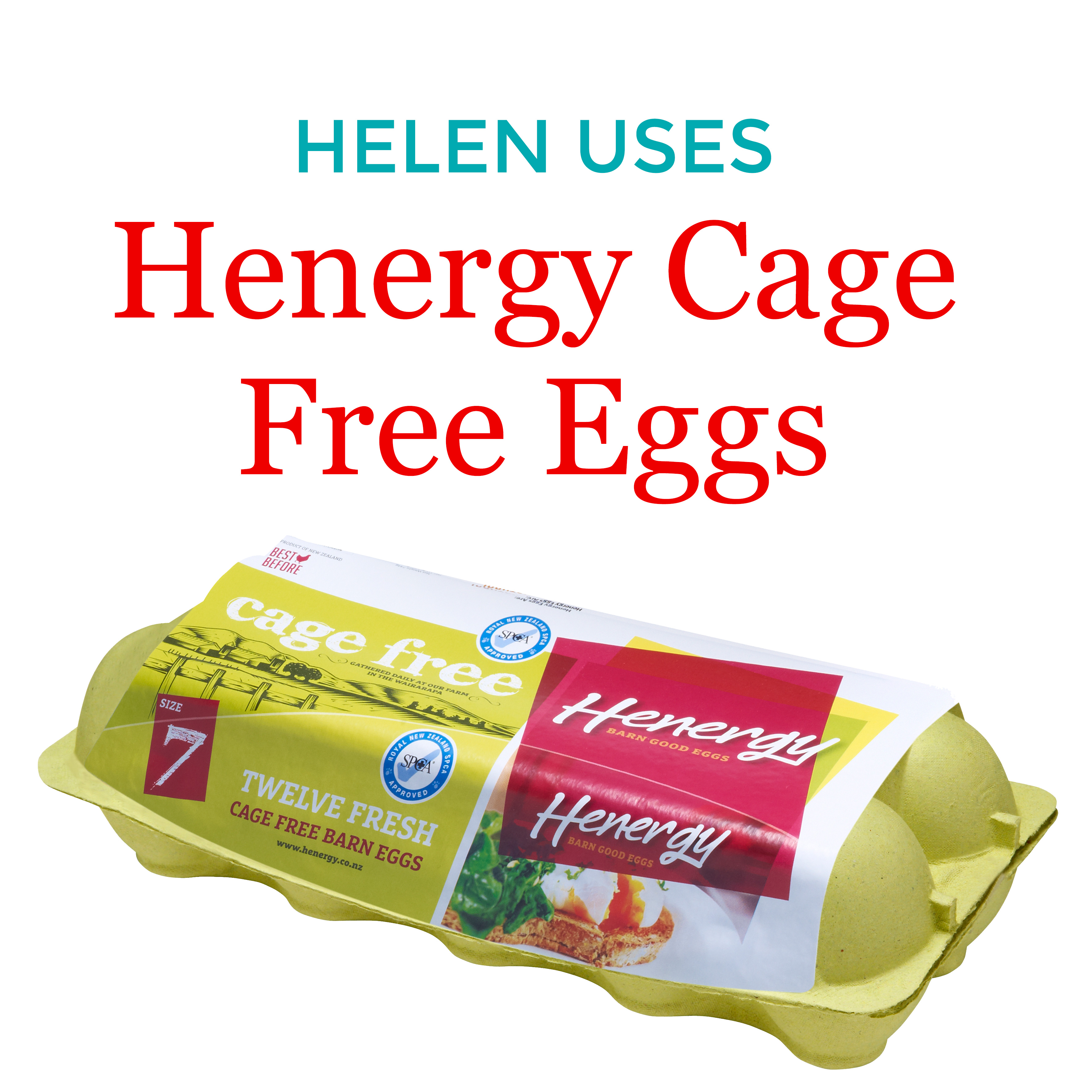 Helen Uses Henergy Cage Free eggs